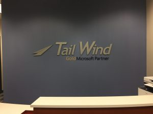 Stylish Branded Interior Business Signs Tail Wind Lobby Sign 300x225